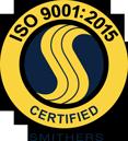 ISO 9001:2015 international organization for standardization certified